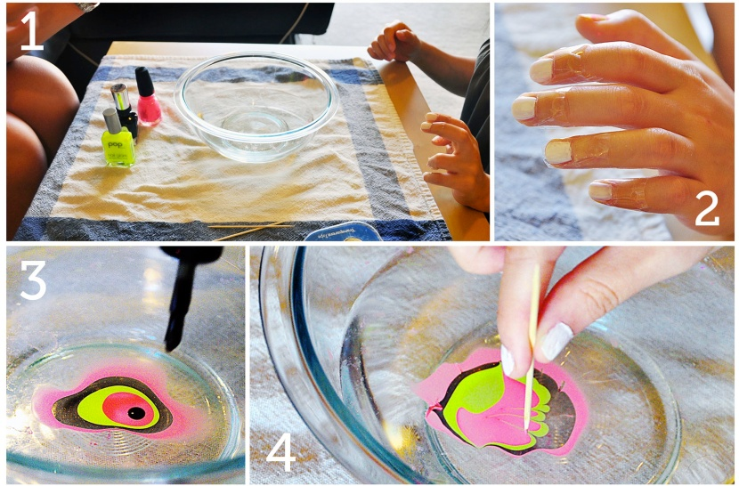 beautybagg's marbled nails tutorial